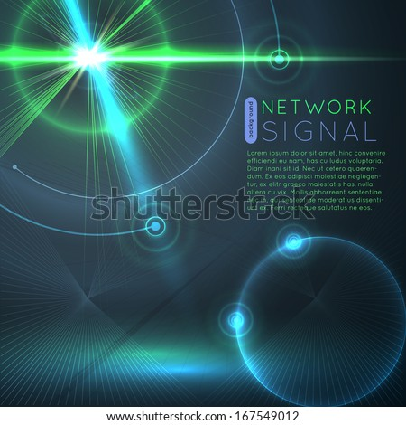 Network signal background - stock vector