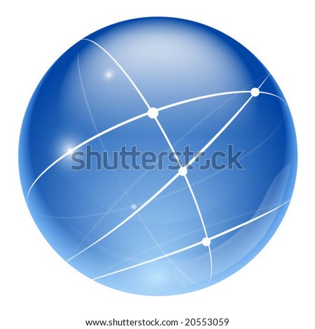 network sphere - stock vector