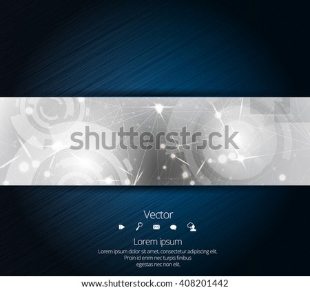 Network technology background - stock vector