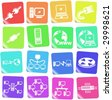 Network vector iconset - stock photo