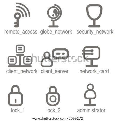 Networking icons set 1. Check my portfolio for many more images from this series. - stock vector