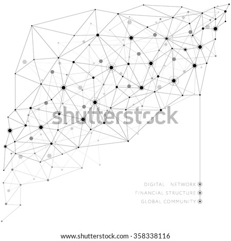 Networks concept and cloud computing, structure of society, variants of decisions - vector background eps 10 - stock vector