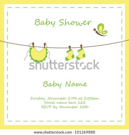 Neutral Baby Shower Invitation