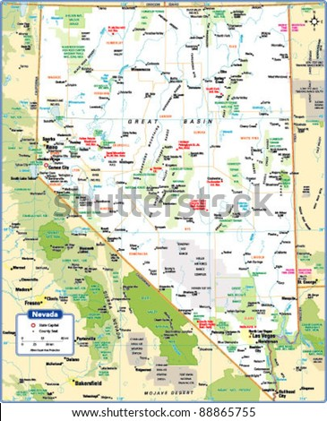 Nevada Map Stock Photos Images Amp Pictures  Shutterstock