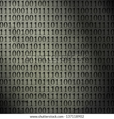 new abstract background with binary code can use like modern technology wallpaper - stock vector