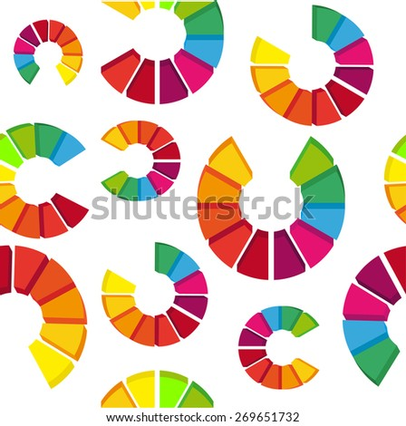 new abstract seamless  pattern with colorful circles isolated on a white