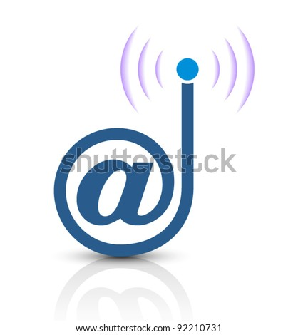 new and creative icon design for e-mail server - stock vector
