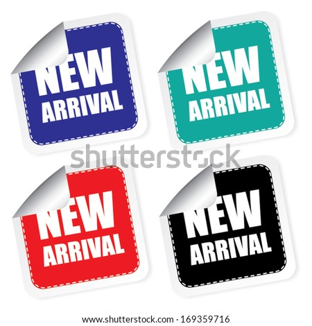 New arrival label, vector illustration - stock vector