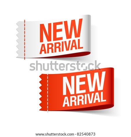 New arrival labels. Vector. - stock vector