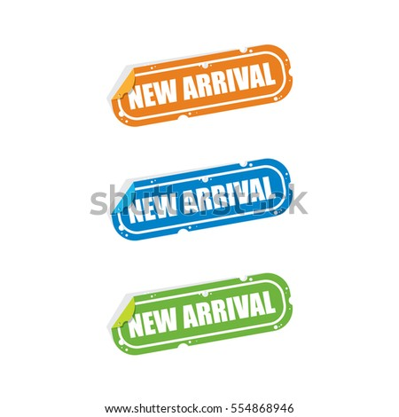 New Arrival Sticker Labels