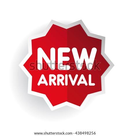New arrival sticker vector - stock vector