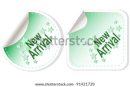 New Arrival vector Button Label set