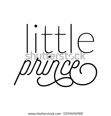 new baby announcement word typography art design vector for little prince