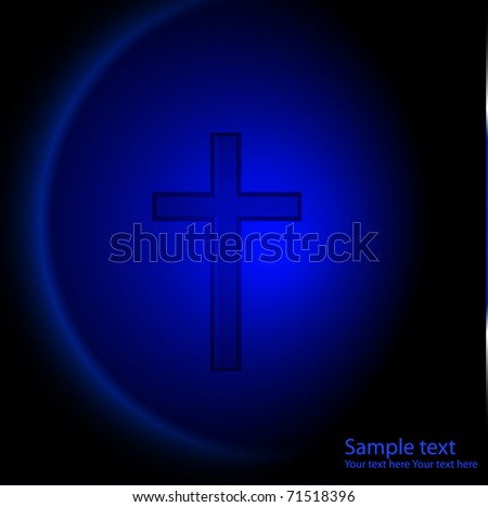 New background with cross. vector illustration - stock vector