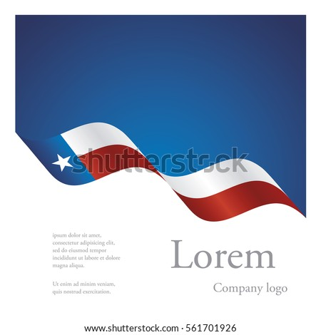 New brochure abstract design modular pattern of wavy flag ribbon of Texas