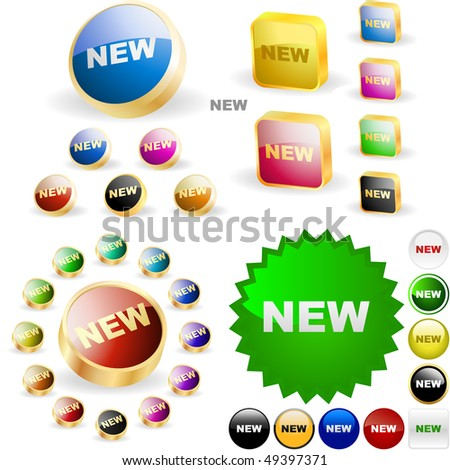 New button set. Vector great collection. - stock vector