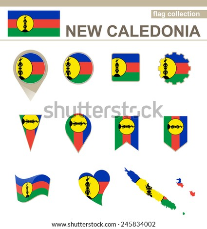 New Caledonia Flag Collection, 12 versions