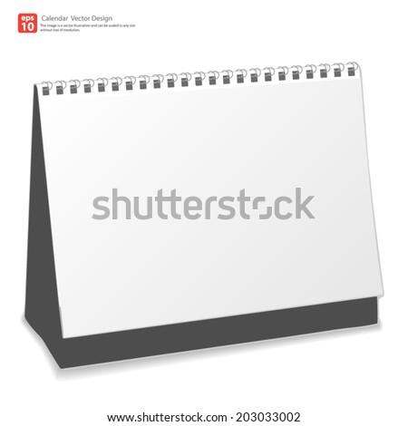 New calendar desktop vector design - stock vector