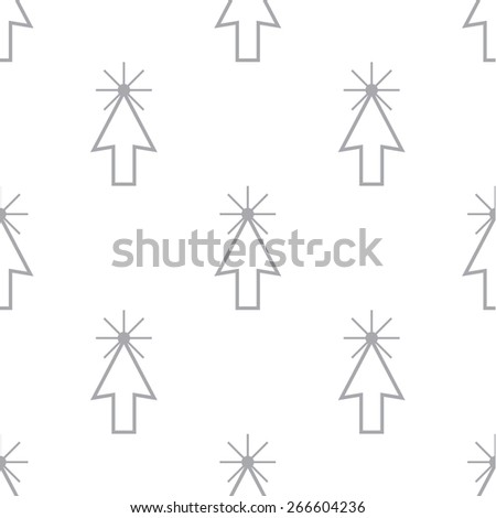 New Click white and black seamless pattern for web design. Vector symbol - stock vector
