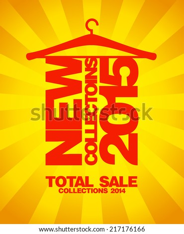 New collections 2015, sale collections 2014 gold design. - stock vector