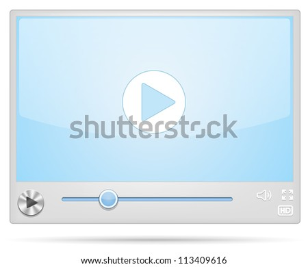 New Cool Video Player skin. Vector illustration - stock vector