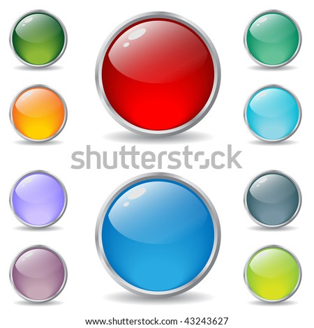 New cool web buttons - stock vector