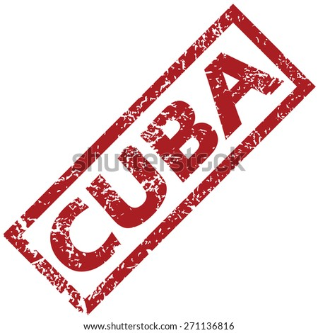 New Cuba grunge rubber stamp on a white background. Vector illustration - stock vector