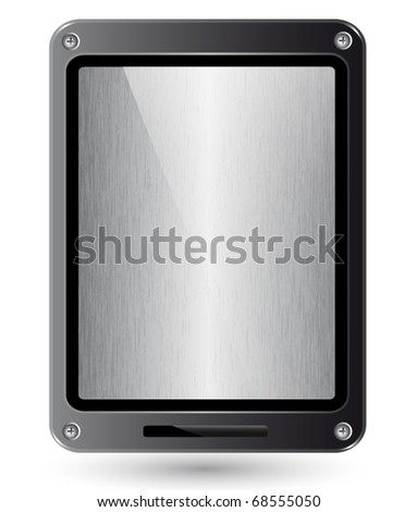 New design tablet PC EPS 10 vector Illustration. Fictitious.
