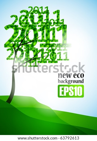 new eco background, eps10 - stock vector