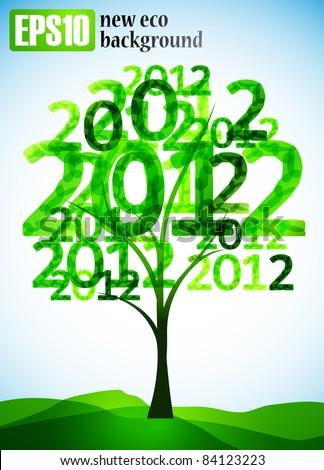 new eco background, eps10 - stock vector