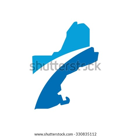 new england map - stock vector