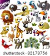 New extra big vector animal set - stock vector