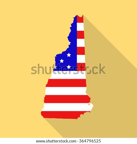 New Hampshire State Map Style Usa Stock Vector - New hampshire on map of usa