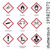 new hazard pictogram - stock photo