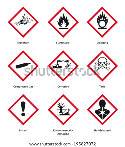 new hazard pictogram - stock vector