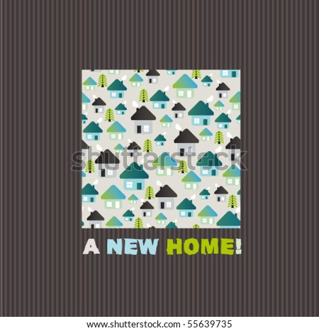 New Home Greeting Card Design In Vector   Stock Vector