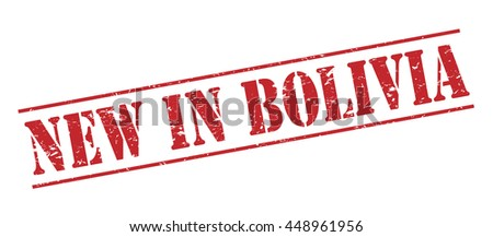 new in bolivia vector stamp on white background