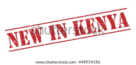 new in kenya vector stamp on white background