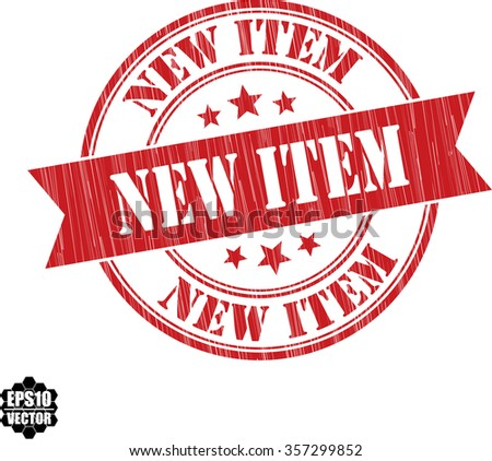 New item grunge rubber stamp, vector illustration - stock vector