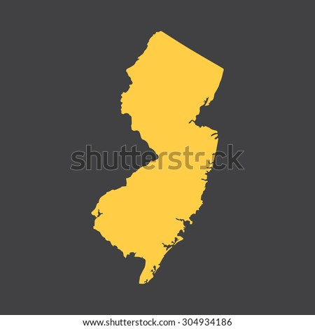 Stock Vector New Jersey Border Map Vector Illustration Eps on Pulaski Skyway Map