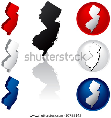 New Jersey Icons - stock vector