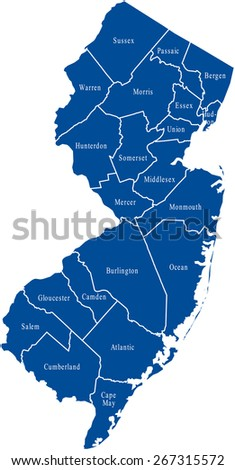 New Jersey Map Stock Images RoyaltyFree Images Vectors - New jersery map