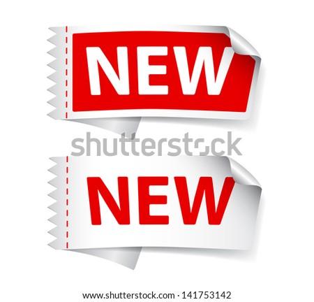 New label - stock vector