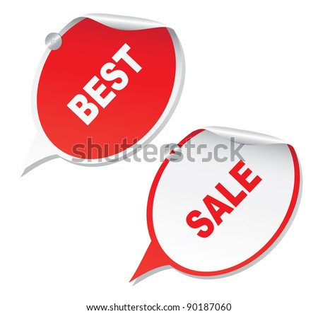 "New labels "" Best"" and ""Sale"". Vector."