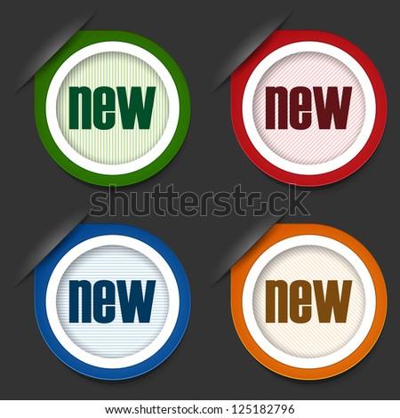 New labels. Vector illustration - stock vector