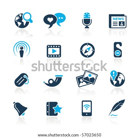New Media // Azure Series - stock vector