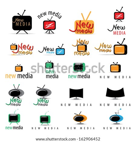 New Media Icons Set - Isolated On White Background - Vector Illustration, Graphic Design Editable For Your Design  - stock vector