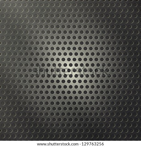 new modern background with perforated metal can use like industrial wallpaper - stock vector
