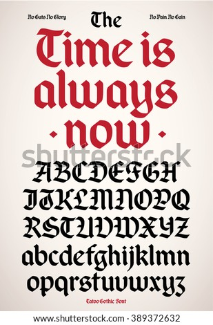New modern gothic alphabet font. - stock vector