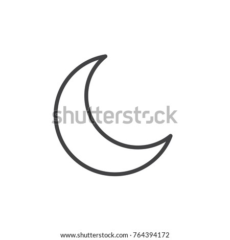 New Moon Line Icon Outline Vector Stock Vector 764394172 Shutterstock
